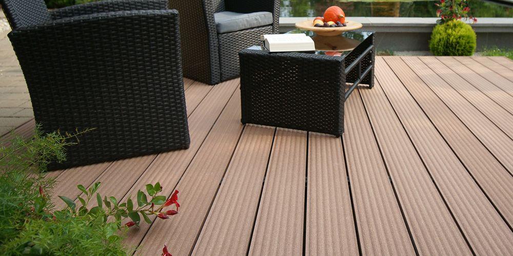 Dielenboden auf Terrasse