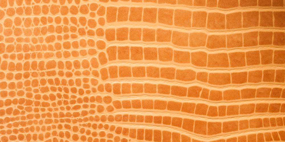 Lederfussboden mit markanter Farbe und Struktur